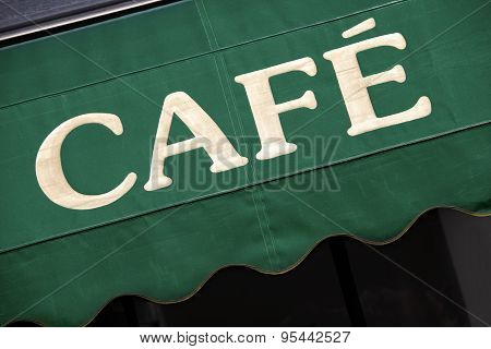Cafe Canopy In Paris
