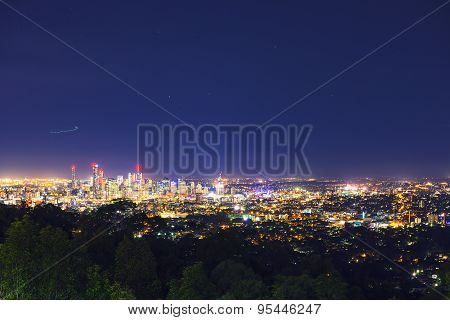 View of Brisbane City from Mount Coot-tha