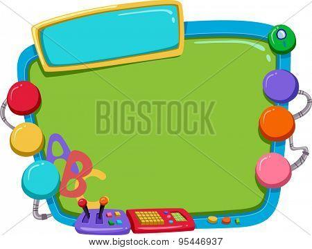 Frame Illustration of a Colorful Computer Monitor Designed for Kids