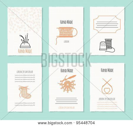 Needlework hand made card templates