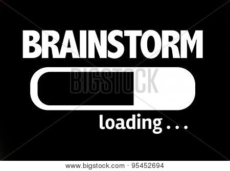 Progress Bar Loading with the text: Brainstorm
