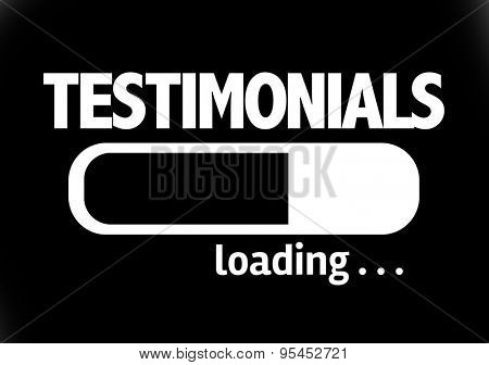 Progress Bar Loading with the text: Testimonials