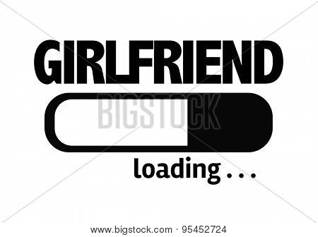 Progress Bar Loading with the text: Girlfriend