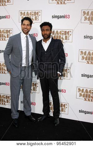 LOS ANGELES - JUN 25:  Adam Rodriguez, Donald Glover at the