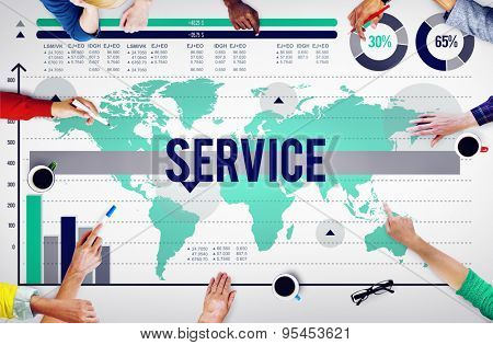 Service Customer Satisfaction Assistance Support Concept