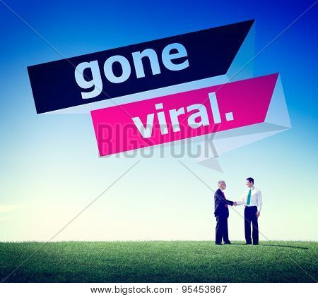 Gone Vial Popular Social Media Networking Concept