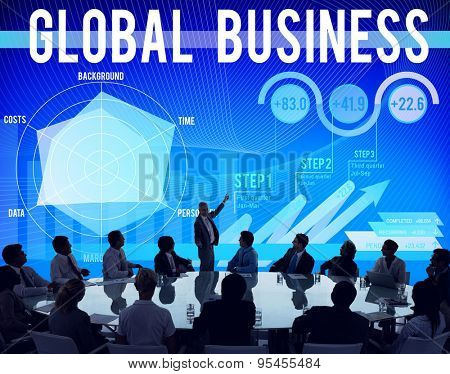 Global Business Strategy Start up Growth Concept