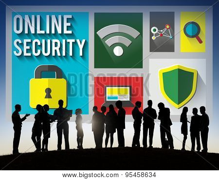 Online Security Protection Password Privacy Data Concept