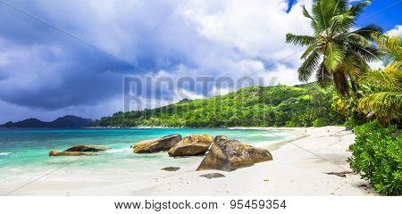 Tropical paradise on Seychelles island. Mahe