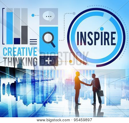 Inspire Inspiration Immagination Motivation Optimistic Concept