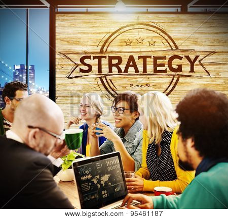 Strategy Business Analysis Critical Thinking Brainstorm Meeting Concept