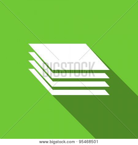 layers flat icon gages sign original modern design flat icon for web and mobile app with long shadow