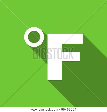 fahrenheit flat icon temperature unit sign original modern design flat icon for web and mobile app with long shadow