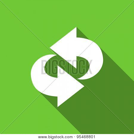 rotation flat icon refresh sign original modern design flat icon for web and mobile app with long shadow