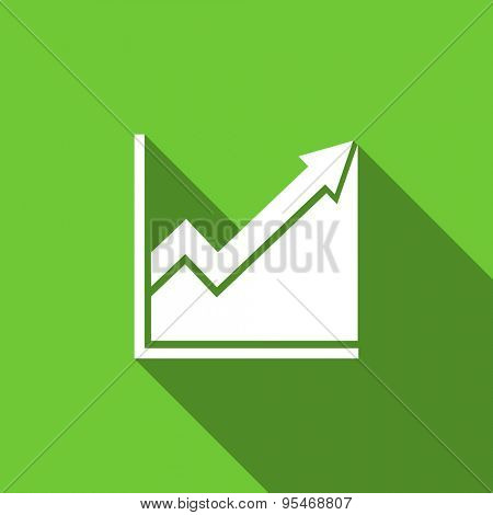 histogram flat icon stock sign original modern design flat icon for web and mobile app with long shadow