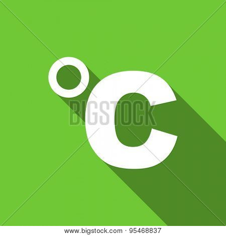 celsius flat icon temperature unit sign original modern design flat icon for web and mobile app with long shadow