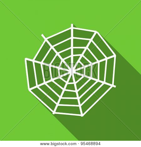 spider web flat icon  original modern design flat icon for web and mobile app with long shadow
