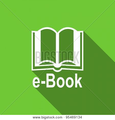 book flat icon e-book sign original modern design flat icon for web and mobile app with long shadow
