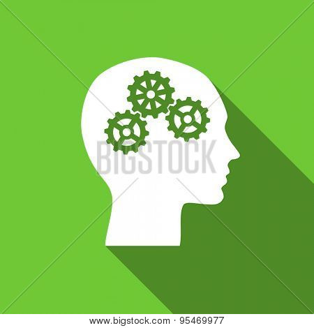 head flat icon human head sign original modern design flat icon for web and mobile app with long shadow