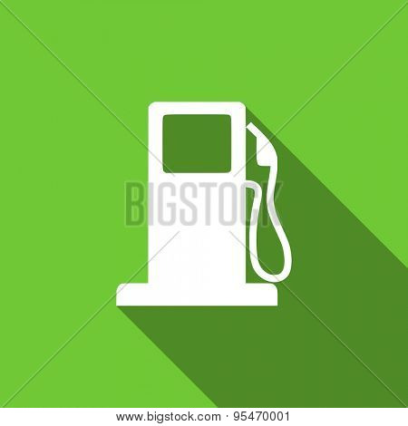 petrol flat icon gas station sign original modern design flat icon for web and mobile app with long shadow