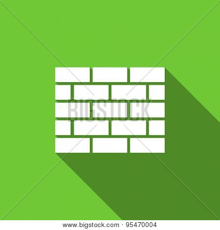 firewall flat icon brick wall sign original modern design flat icon for web and mobile app with long shadow