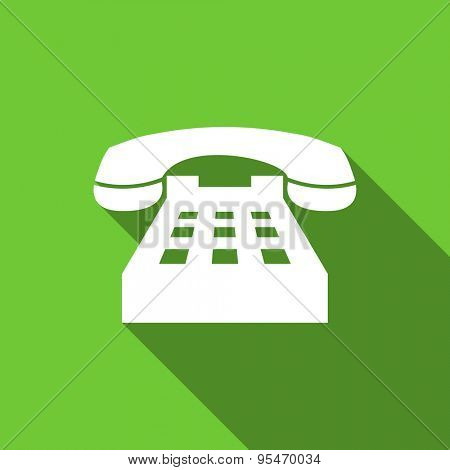 phone flat icon telephone sign original modern design flat icon for web and mobile app with long shadow