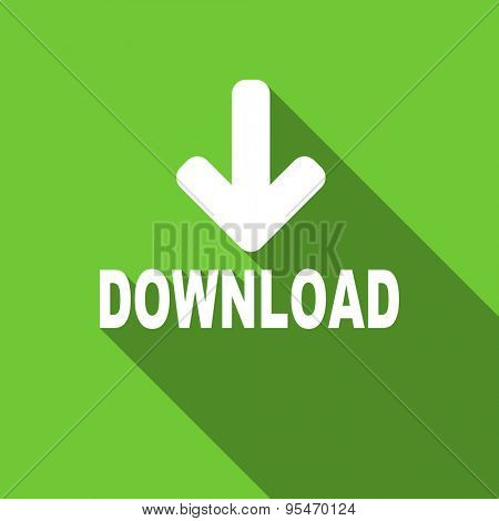 download flat icon  original modern design flat icon for web and mobile app with long shadow