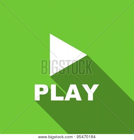 play flat icon  original modern design flat icon for web and mobile app with long shadow