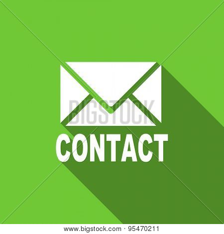 email flat icon contact sign original modern design flat icon for web and mobile app with long shadow