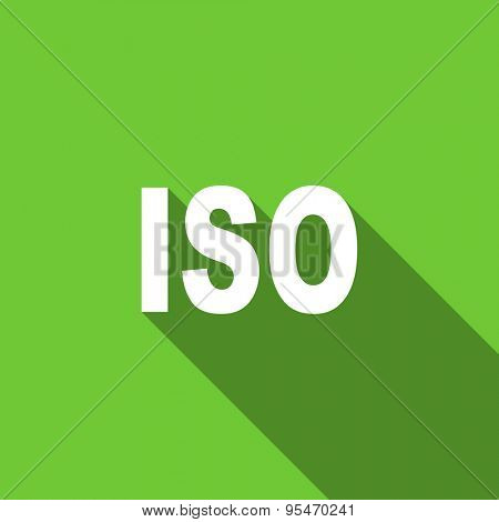 iso flat icon  original modern design flat icon for web and mobile app with long shadow