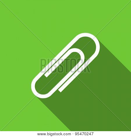 paperclip flat icon  original modern design flat icon for web and mobile app with long shadow