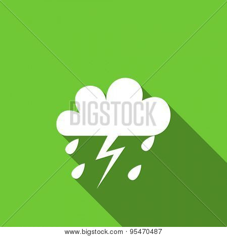 storm flat icon waether forecast sign original modern design flat icon for web and mobile app with long shadow