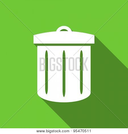 recycle flat icon recycle bin sign original modern design flat icon for web and mobile app with long shadow