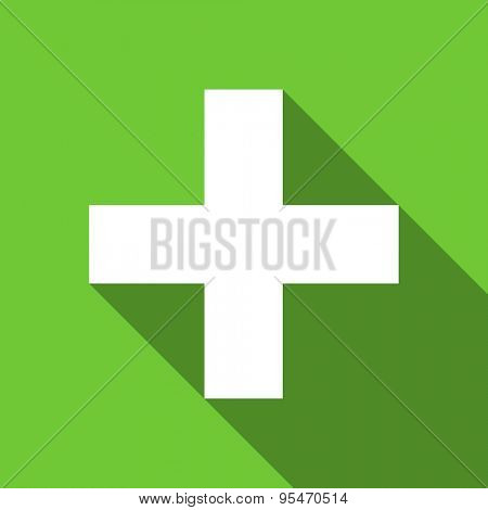 plus flat icon cross sign original modern design flat icon for web and mobile app with long shadow