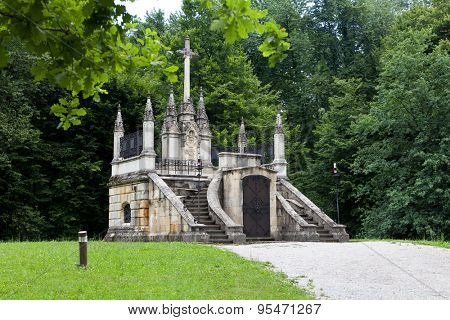 Mausoleum and resting place of Croatian historic figure Ban Jelacic in Zapresic, Croatia