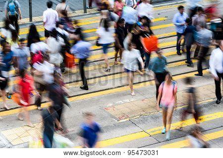 Bokeh view of Hong Kong Busy road