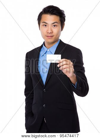Businessman showing the namecard