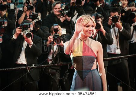 Cannes, France - May 16, 2015: Sienna Miller attends the Premiere of 'The Sea Of Trees' during the 68th annual Cannes Film Festival on May 16, 2015 in Cannes, France.