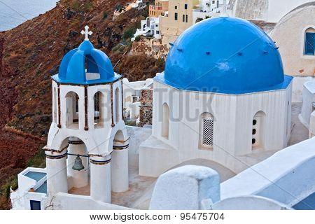 church detail in oia santorini