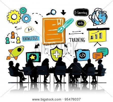 Business Team Training Communication Brainstorming Meeting Concept