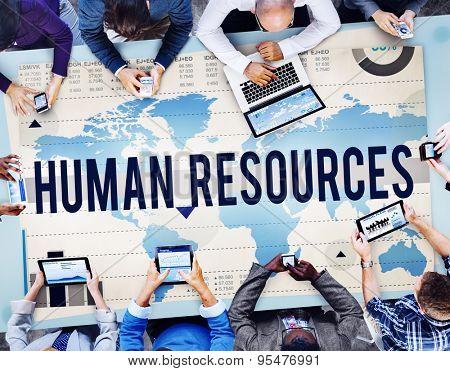 Human Resources Employment Hiring Recruitment Concept