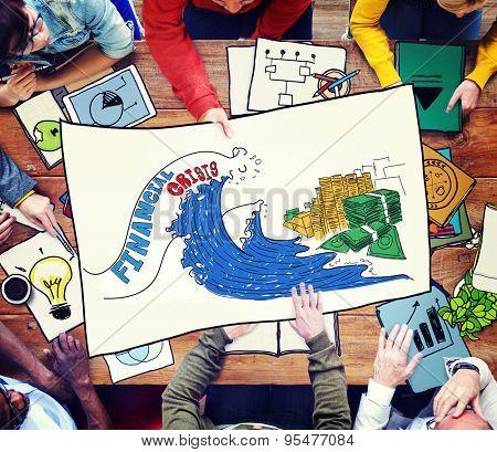Financial Crisis Investment Money Economy Concept