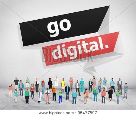 Go Digital Modern Latest Technology Upgrade Concept