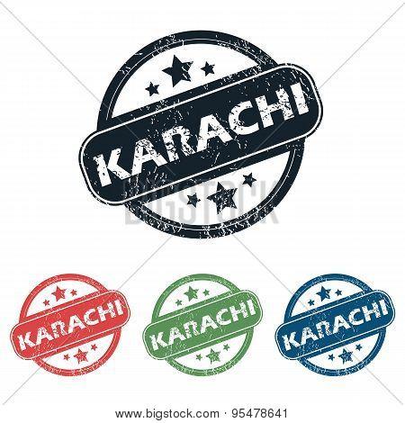 Round Karachi city stamp set