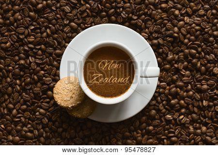 Still Life - Coffee Wtih Text New Zealand