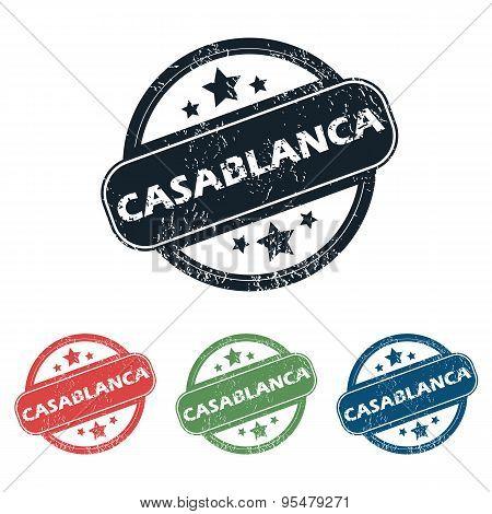 Round Casablanca city stamp set