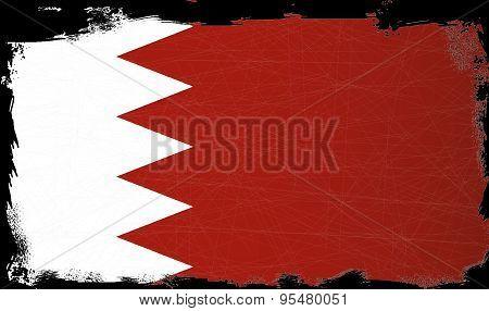 Flag Of Bahrain Grunge