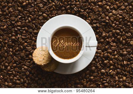 Still Life - Coffee Wtih Text Nigeria