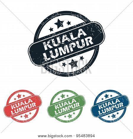 Round Kuala Lumpur stamp set