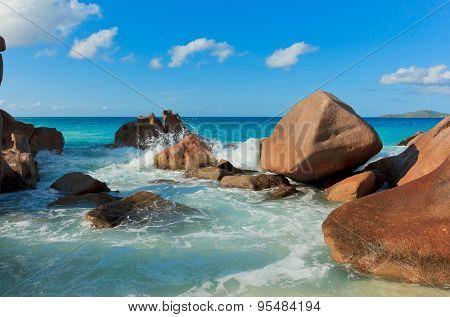 Rocky Beach Magnificent Seychelles
